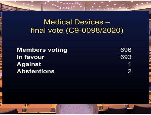 Il Parlamento Europeo ha votato il rinvio del Regolamento 2017/745 (MDR)